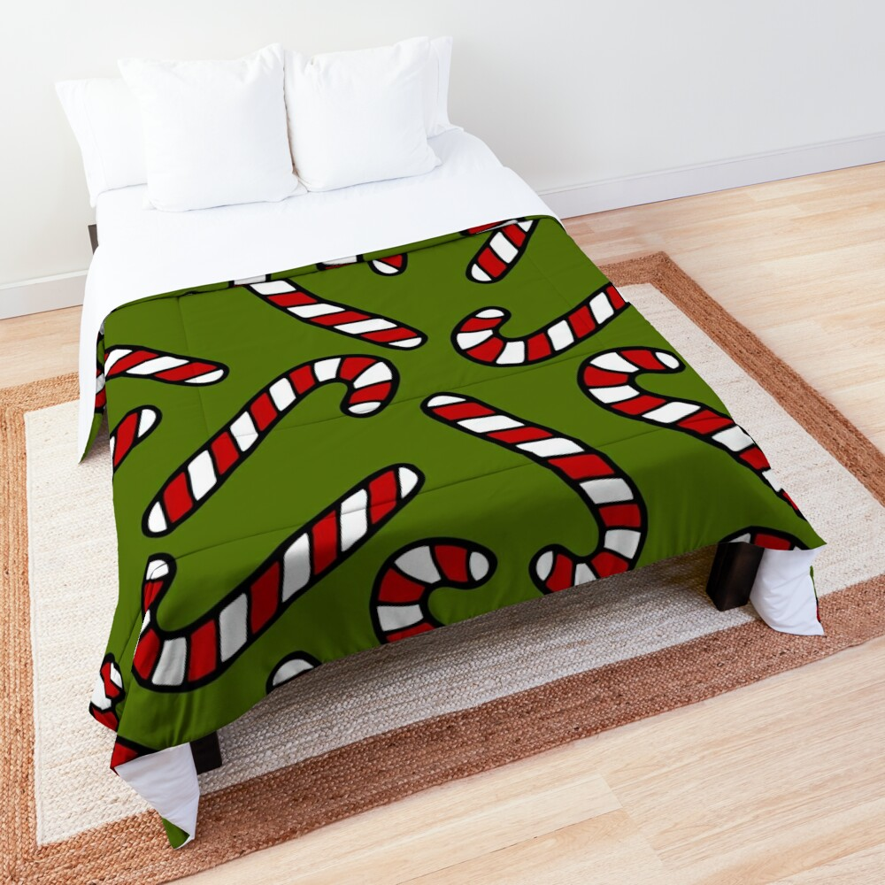 Candy Cane Pattern Comforter