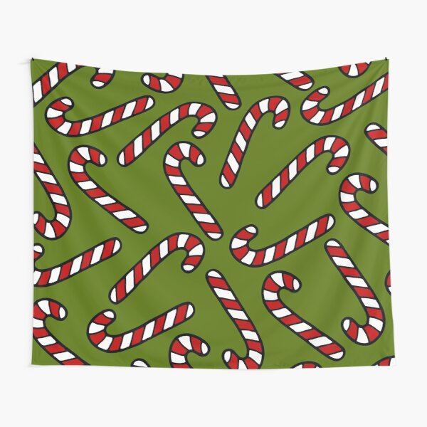 Candy Cane Pattern Tapestry