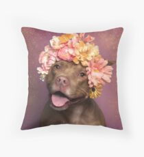 Flower Power, Topaz Throw Pillow