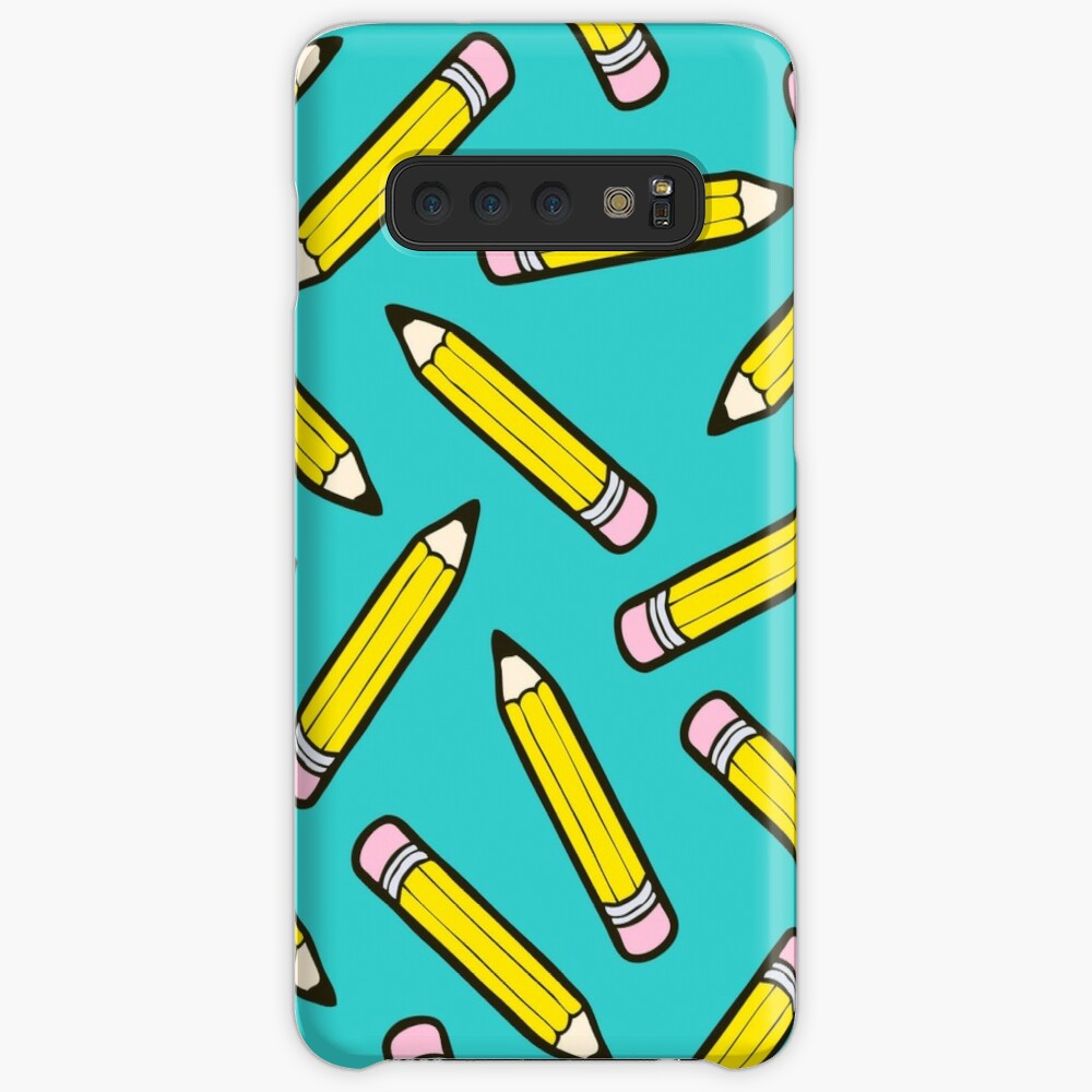 Pencil Power Blue Pattern Samsung Galaxy Snap Case