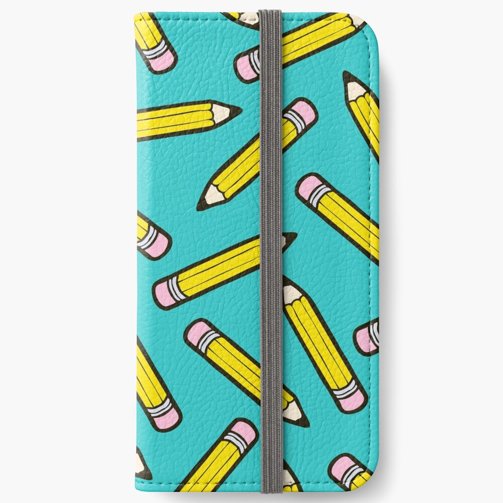 Pencil Power Blue Pattern iPhone Wallet