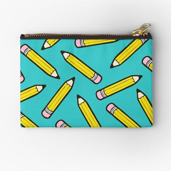 Pencil Power Blue Pattern Zipper Pouch