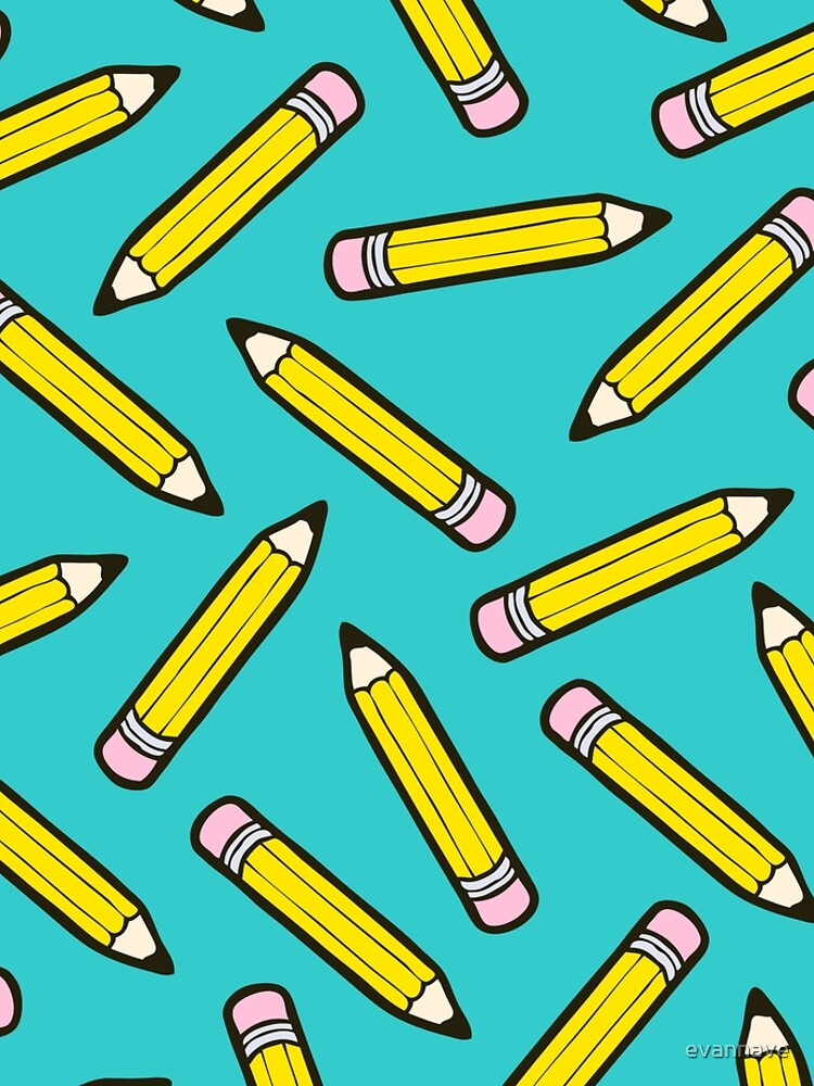 Pencil Power Blue Pattern by evannave