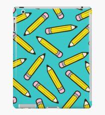 Pencil Power Blue Pattern iPad Case/Skin