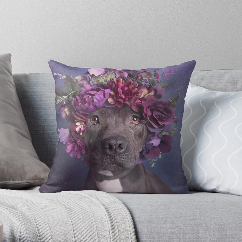 Flower Power, Aria Throw Pillow