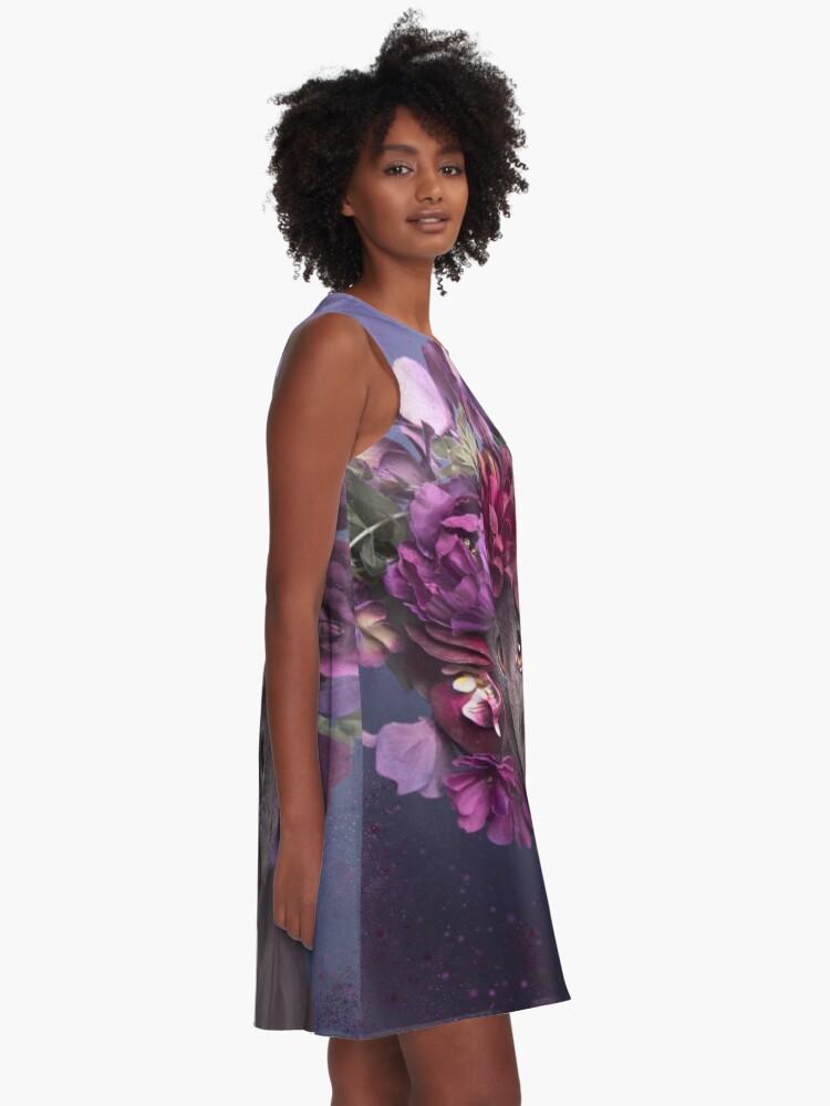 Alternative Ansicht von Flower Power, Arie A-Linien Kleid