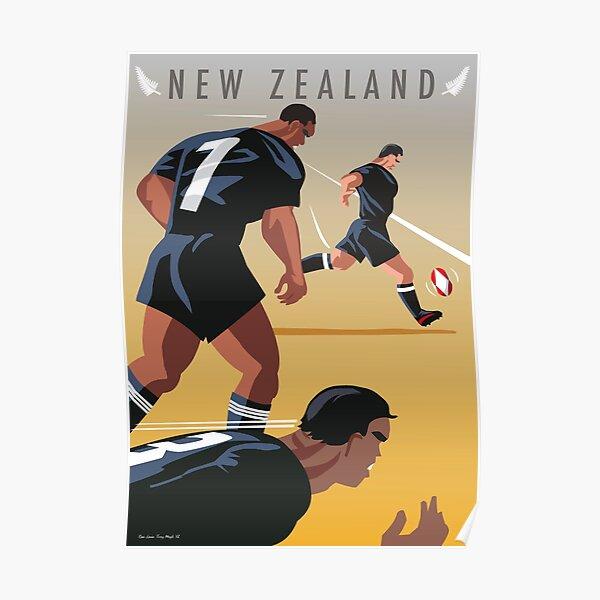 Kickoff  Rugby New Zealand Poster
