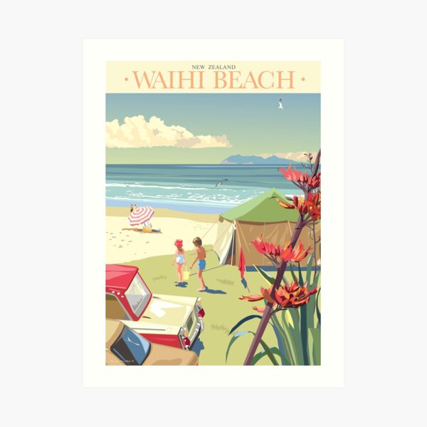 Waihi Beach, New Zealand Art Print