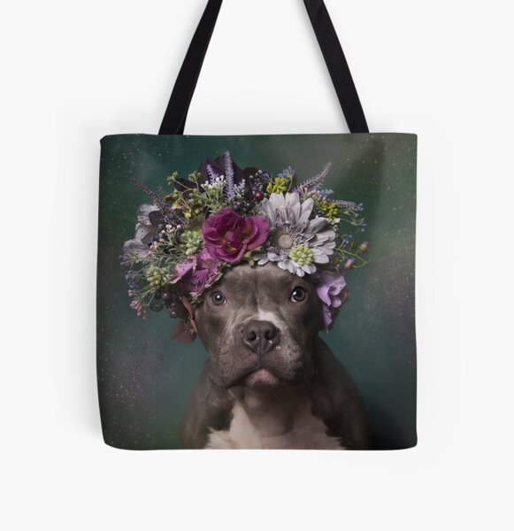 Flower Power, Tater Tot All Over Print Tote Bag