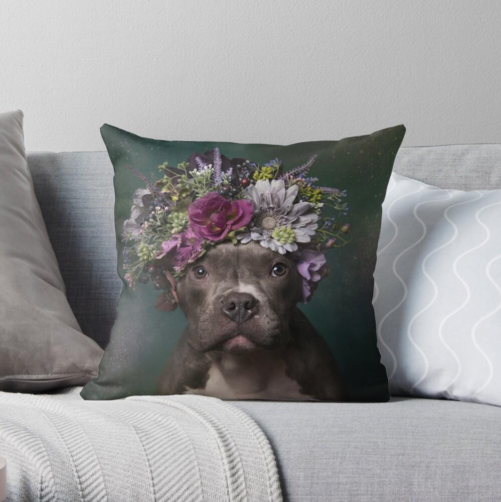 Flower Power, Tater Tot Throw Pillow
