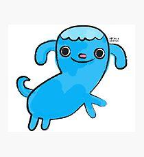 Blue Dog, Animal Lovers, Whimsical Illustration Photographic Print