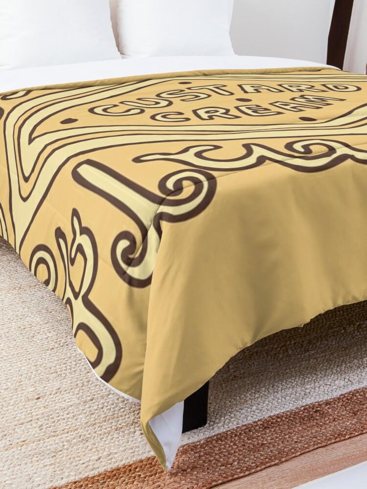 Alternate view of Custard Cream British Biscuit Comforter