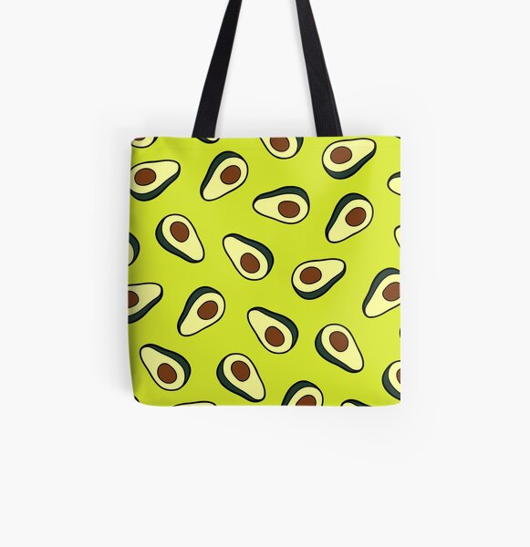Avocado Pattern All Over Print Tote Bag