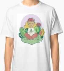character meditate in nature, eps vector illustration  Classic T-Shirt