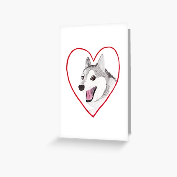 Love Dog Greeting Card
