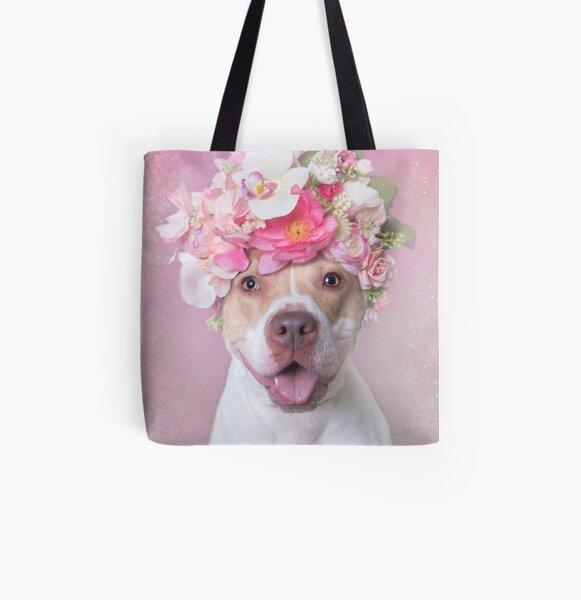 Flower Power, Blossom All Over Print Tote Bag