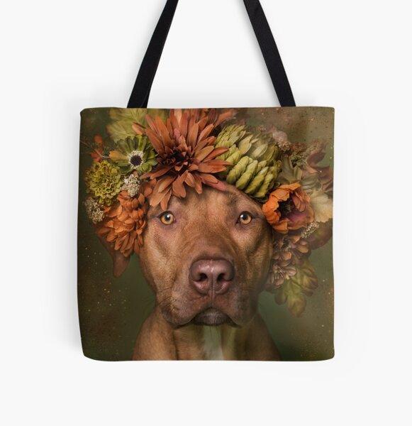 Flower Power, Finn All Over Print Tote Bag