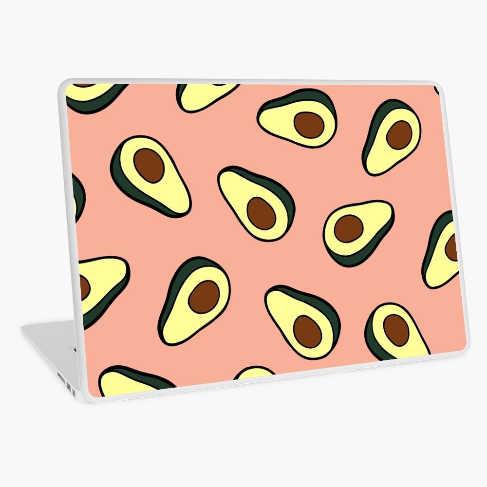 Avocado Pattern in Pink Laptop Skin