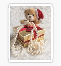 Little Teddy with a gift Sticker
