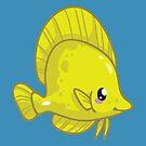 Yellow Tang by bytesizetreas