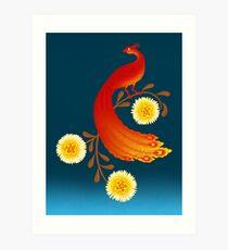 Folklore Firebird Art Print