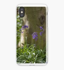 Native English Bluebells and Tree iPhone Case/Skin