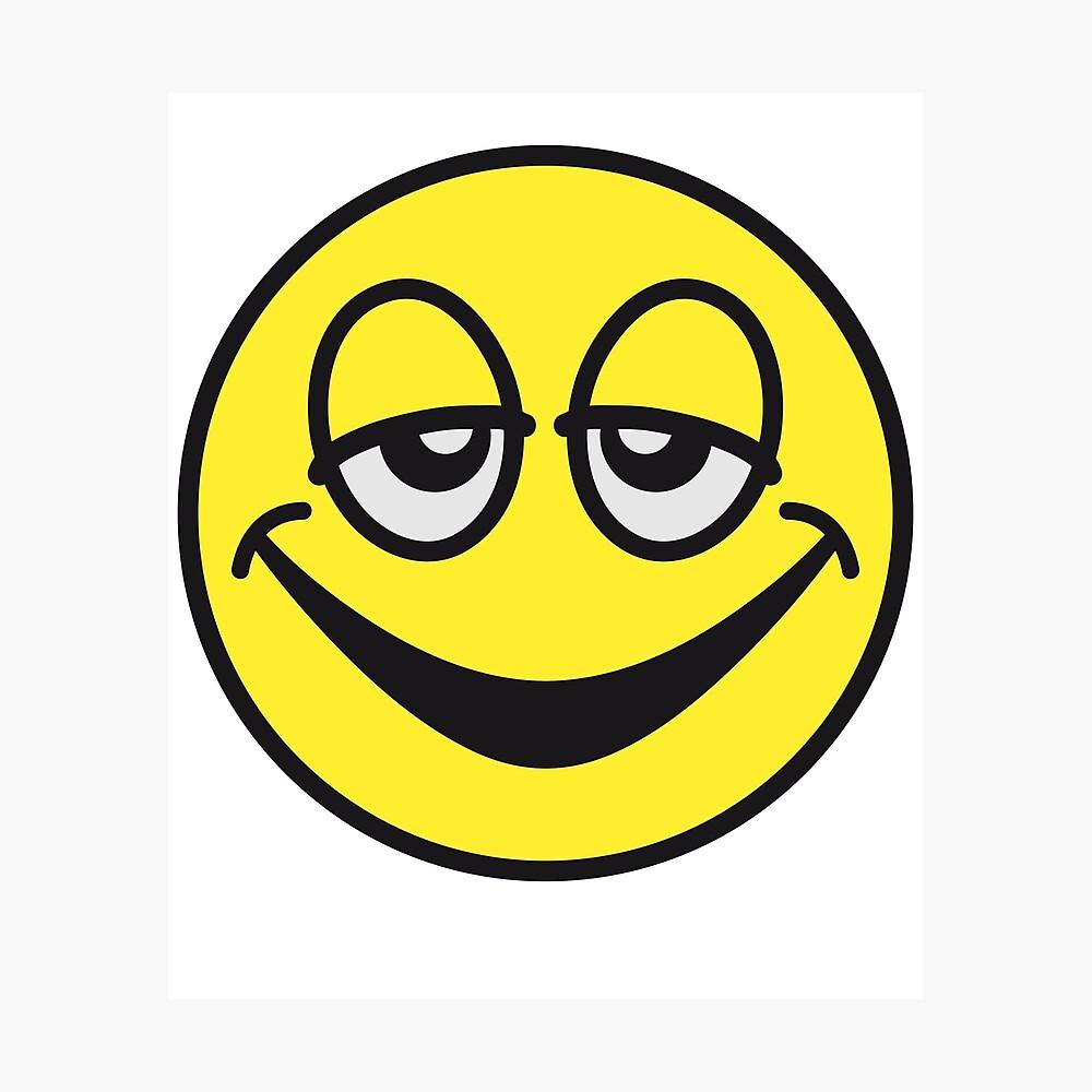 Emoji Stoned Photographic Print