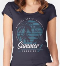 Aloha Vibes Women's Fitted Scoop T-Shirt