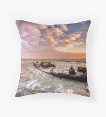 Shipwreck SS Carbon Throw Pillow