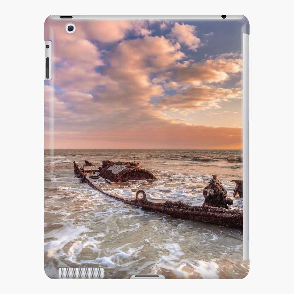 Shipwreck SS Carbon iPad Case & Skin