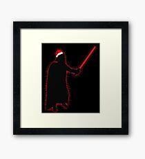 Darth Vader Santa Framed Print