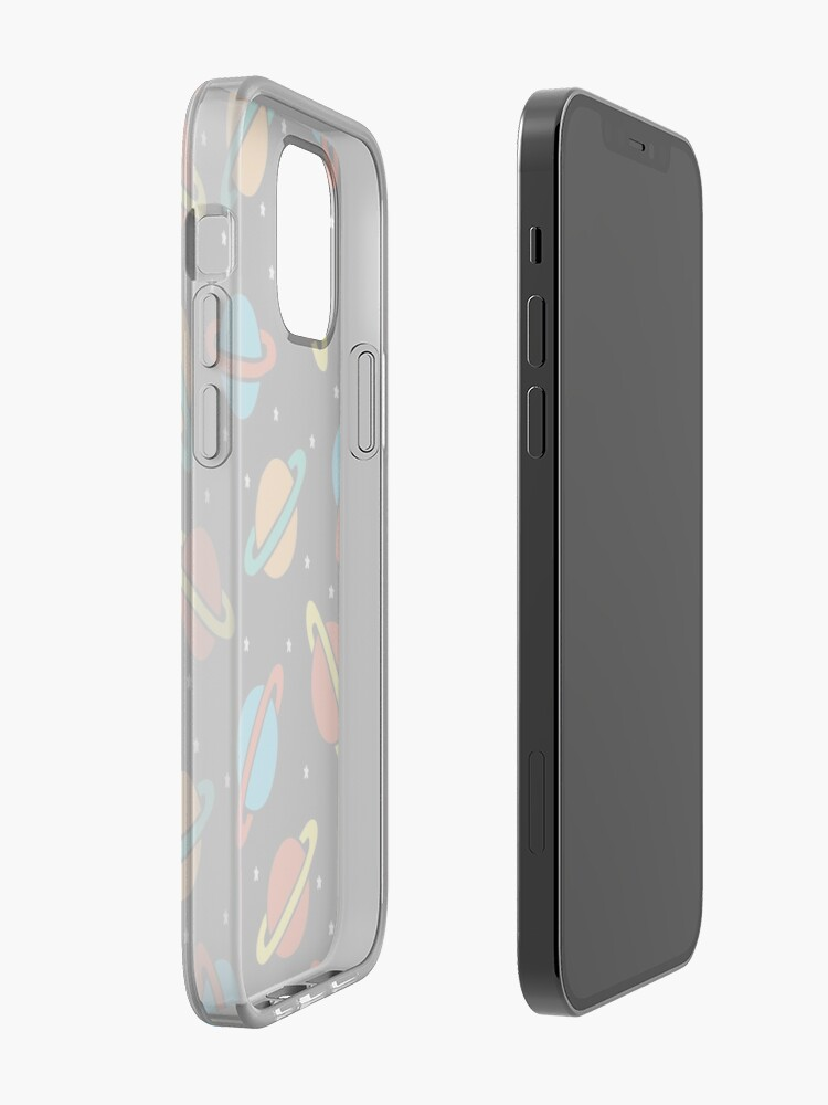 Alternate view of Space Planets Pattern iPhone Case & Cover