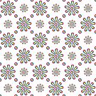 Floral Dot Repeat Pattern by Orla Cahill