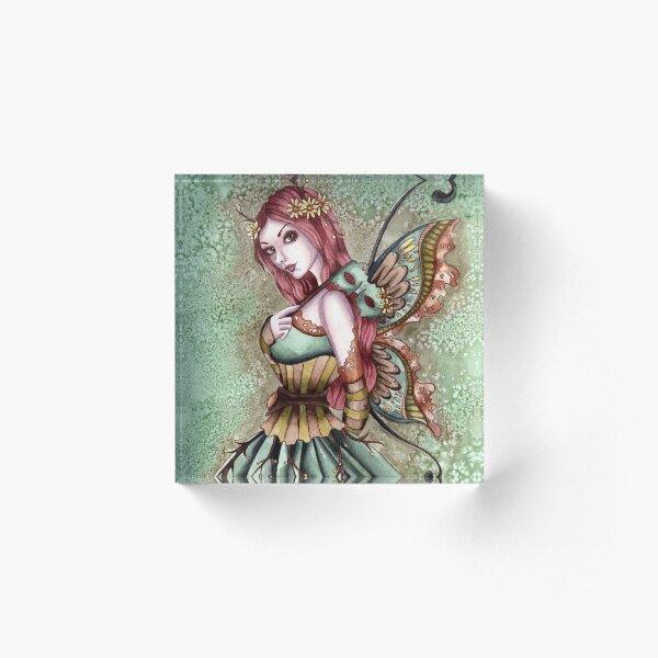 Arden - Masquerade Fairy Acrylic Block