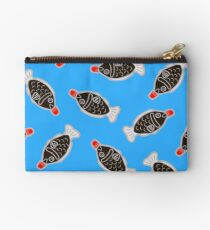 Sushi Soy Fish Pattern in Blue Studio Pouch