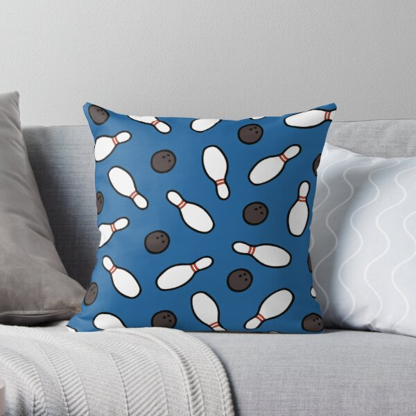 Bowling for Pins Pattern Throw Pillow