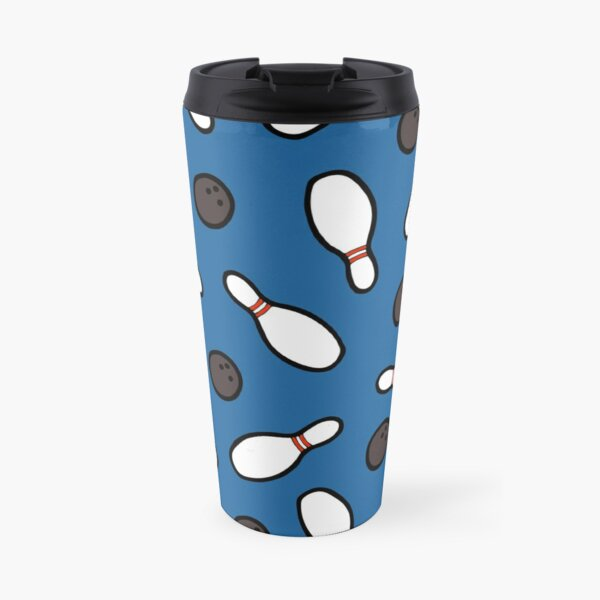 Bowling for Pins Pattern Travel Mug