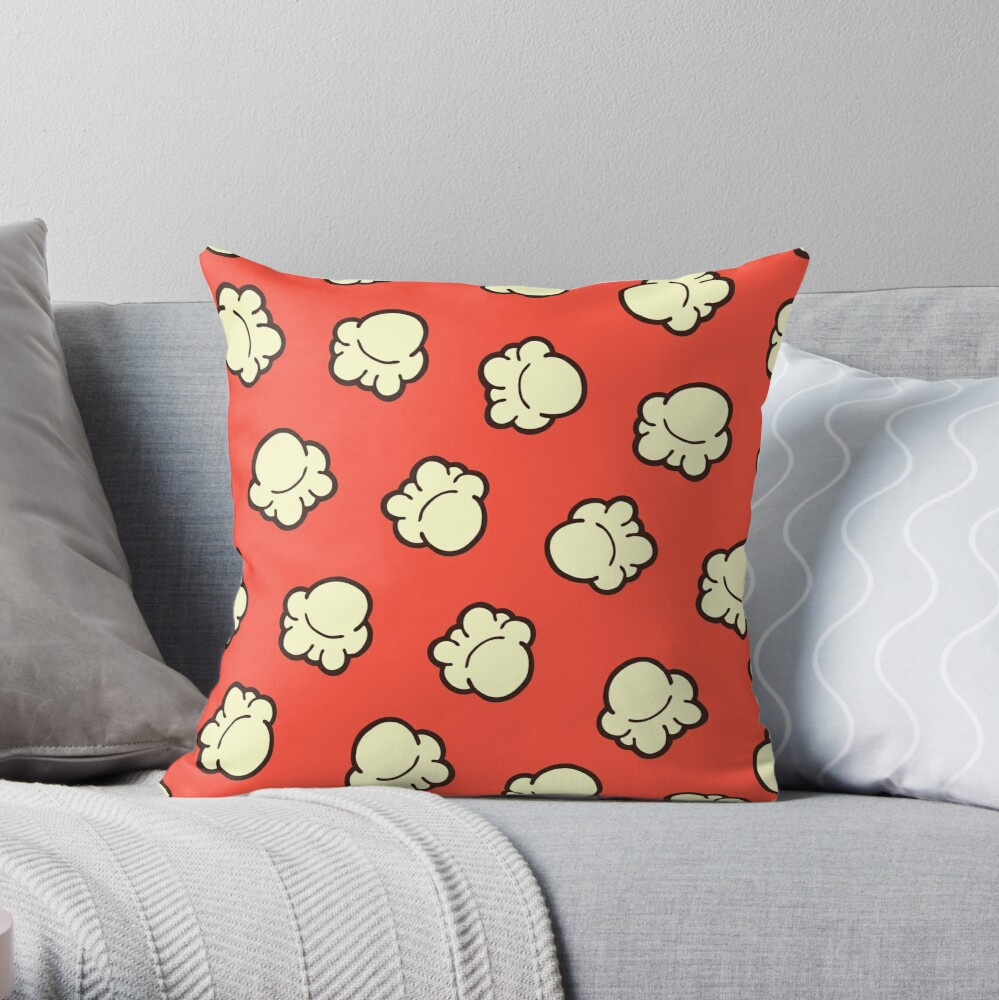 Popcorn Pattern Throw Pillow