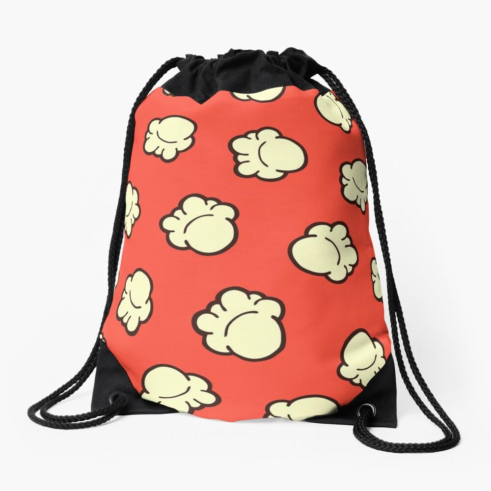 Popcorn Pattern Drawstring Bag