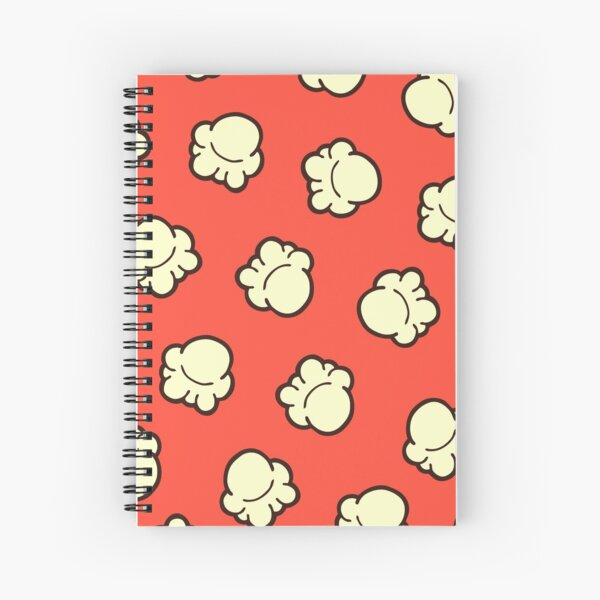 Popcorn Pattern Spiral Notebook