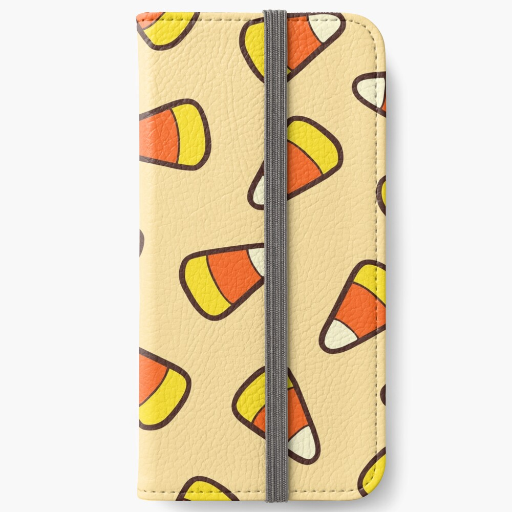 Candy Corn Pattern iPhone Wallet