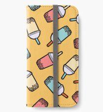 Bubble-Tee-Muster iPhone Flip-Case/Hülle/Skin