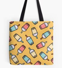 Bubble Tea Pattern Tote Bag