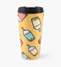 Bubble Tea Pattern Travel Mug
