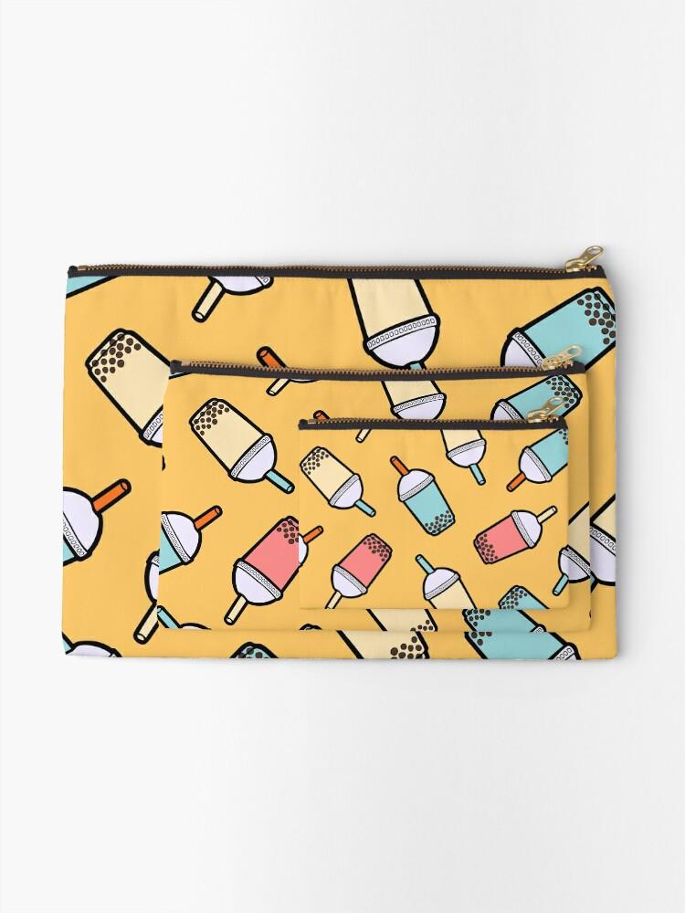 Alternate view of Bubble Tea Pattern Zipper Pouch