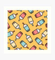 Bubble Tea Pattern Art Print