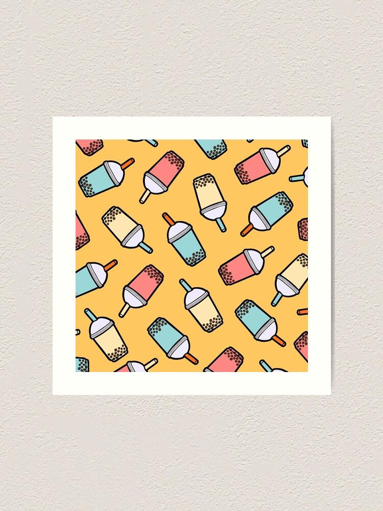 Alternate view of Bubble Tea Pattern Art Print