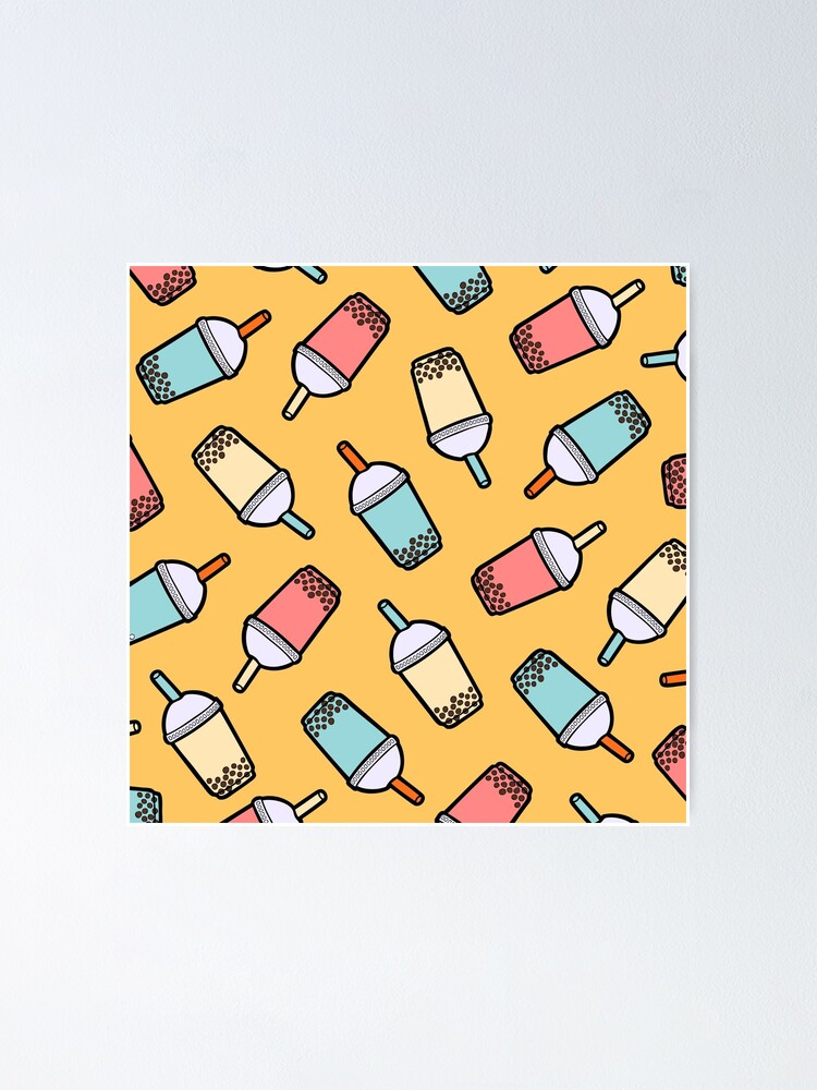 Alternate view of Bubble Tea Pattern Poster