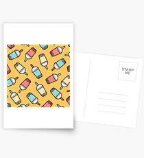 Bubble Tea Pattern Postcards