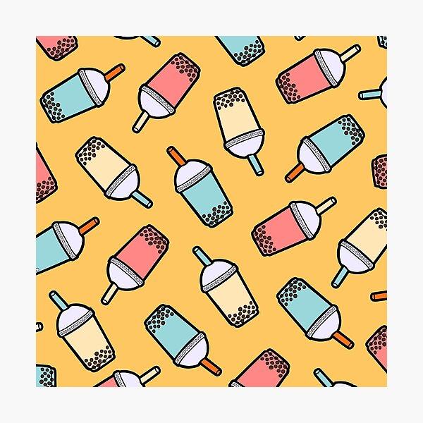 Bubble Tea Pattern Photographic Print
